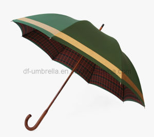 "27""X8ribs Double Layer Wooden Golf Umbrella for Advertising Promotional Golf Umbrella with High Quality"