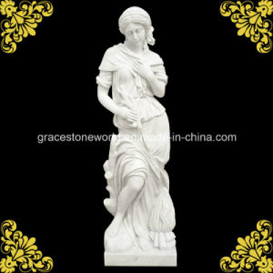 Top Quality Four Season God Statue with Hunan White Marble pictures & photos