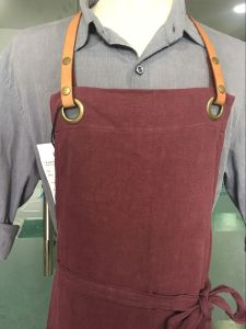 Cusomized Red Kitchen Adult Big Linen Aprons for Women pictures & photos