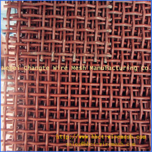 Red Crimped Wire Mesh for Mining pictures & photos