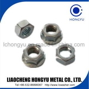 Flange Hex Nuts with Zinc Coating pictures & photos