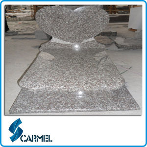 Cheap G664 Rosa Beta Granite Tombstone with Heart