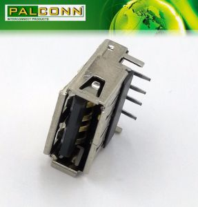 USB2.0A Type Connector, Single Deck, Right Angle Through Hole Type pictures & photos