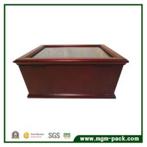 Luxury Wooden Fountain Display Pen Box with Drawer pictures & photos