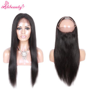 Peruvian Virgin Hair 360 Straight Hair Lace Frontals with Baby Hair pictures & photos