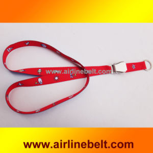 Airline Seatbelt Airplane Buckle Sublimation Lanyard