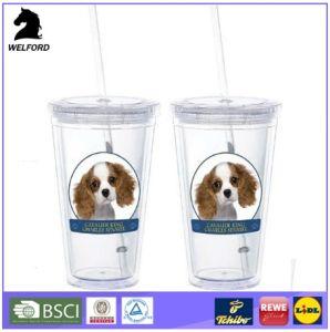 Custom BPA Free San Double Wall Tumbler Mug with Leak Proof Straw