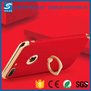 Chrome Glossy Hard PC Case with Metal Ring Kickstand Phone Shell for iPhone 7 pictures & photos
