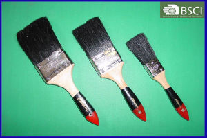 Black Bristle Paint Brush with Wooden Handle pictures & photos