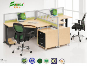 MFC Two Cubical High End Modern Office Table pictures & photos