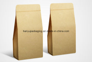 Stand up Zippered Kraft Paper Bags Layered Material pictures & photos