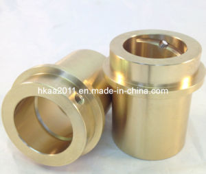 Custom Machined Aluminum Bronze Bushing with Spiral Groove pictures & photos