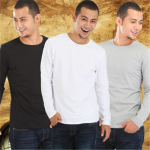 Wholesale O-Neck Collar and Unisex Long Sleeve Multicolor T-Shirt pictures & photos