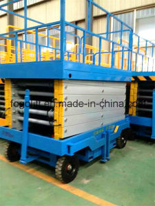 18m Mobile Warehouse Use Scissor Lift pictures & photos