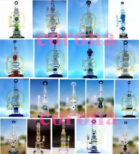 Corona Wholesale Stright Tube Oil DAB Rig Recyclers Glass Water Pipe, Manufacture Beaker Glass Smoking Pipe pictures & photos