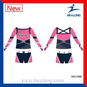 Girls Sublimation Cheap Cusotm Cheerleading Uniforms Sets pictures & photos