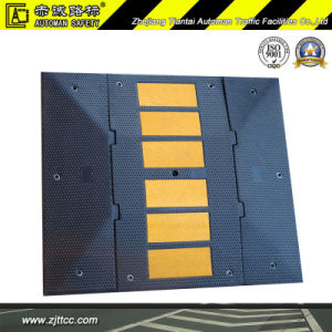 Romania Standard Joinable Reflective Industrial Rubber Car Speed Safety Bump (CC-B08) pictures & photos
