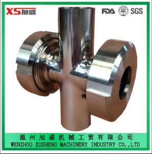 Stainless Steel Ss304 Ss316L Sanitary Four Ways Cross Union Sight Glass pictures & photos