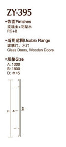 Rose Gold Color Stainless Steel Door Handle (ZY-395) pictures & photos