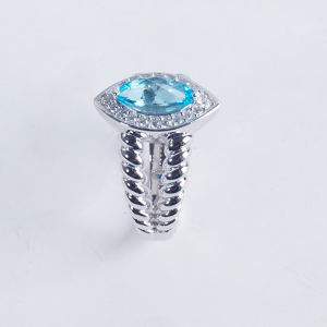 2015 Fashion Natural Stone Silver Jewelry Rings pictures & photos