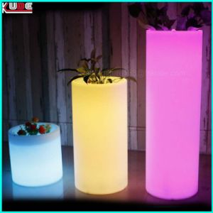 Illuminated Glow Furniture Cylinder Chair Ottaman Flower Pots pictures & photos