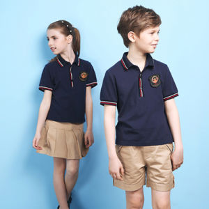 China high quality unifrom polo shirt shorts and skirt for Polo shirt uniform design