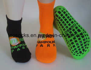Custom Anti Slip Kids Sport Socks Jump Trampoline Socks pictures & photos