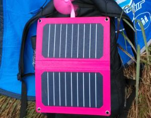 2016 New Item Best Sale 6V 12W 1mm thickness Solar Mobile Charger in Lowest Cost pictures & photos