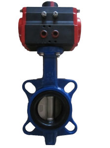 Wafer Butterfly Valve with Pneumatic Actuator pictures & photos