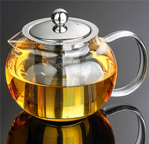High Alkali Resistance 600ml Glass Teapot with Infuser pictures & photos
