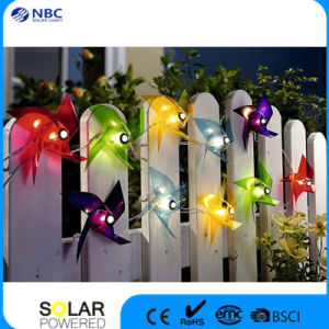 Fabric and Plastic Material Solar String Christmas Lantern pictures & photos