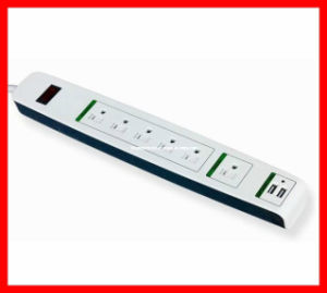 UL/cUL/ETL Power Strip, 6 Outlet Surge Protector, Power Strip with 2 Port USB for American Market (FC-16234) pictures & photos