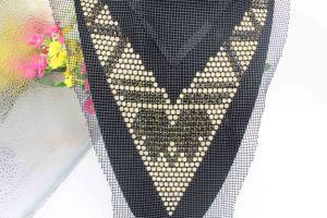 Neckline Rhinestone Applique Collar Motif Trimming for Evening Dresses (TA-021) pictures & photos