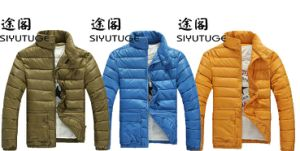 Mens Fashion Three Bright Color Down Padding Jacket pictures & photos