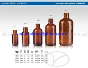 Amber Glass Bottles for Syrup Boston PP18 20 22 24 pictures & photos