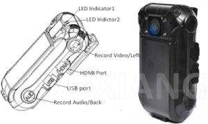 Zp605c Law Enforcement Police Body Worn Camera with Latest Encrpytion Technology pictures & photos