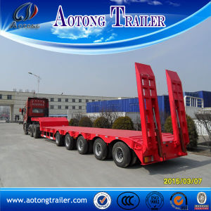 4 Axle Low Bed Semi Trailer, 80 Tons Low Flatbed Trailer Sale pictures & photos