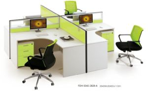 Germany White Office Desk 4 Seats Cubicles Cross Design pictures & photos