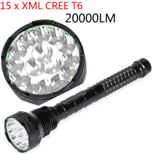 15PCS LED CREE T6 18000lm 1500m18650 Rechargeable LED Flashlight pictures & photos