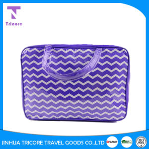 Wholesale PVC Material Stripe Printed Zipper Tote Bag pictures & photos