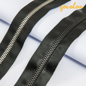 New Open-End Metal Teeth Leather Zipper pictures & photos