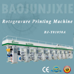 High Speed Computer Control 8 Color Rotogravure Printing Machine