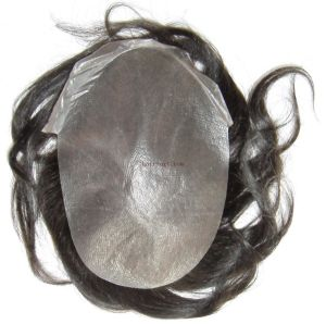 100% Indian Remy Hair & Thin Skin Injected Toupee pictures & photos