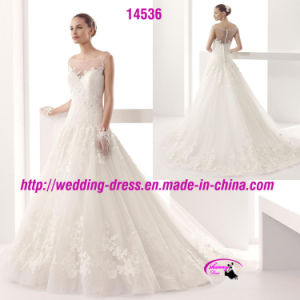 Beautiful Nice Lace Gowns Dress Wedding with Buttons pictures & photos