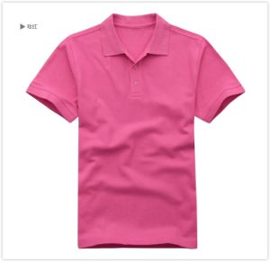 Rose Red Simple Design Custom Polo T Shirt pictures & photos