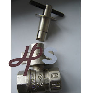 Brass Lockable Ball Valve with Plated Nickel pictures & photos