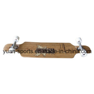 High Quality Bamboo Deck Long Board Skateboard pictures & photos