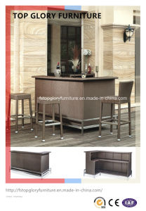 Bar Furniture PE Rattan Stools and Table (TG-1708) pictures & photos