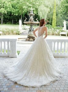 Custom Made Bridal Gowns V-Neck Lace Tulle Puffy Wedding Dress 2017 Mr2885 pictures & photos
