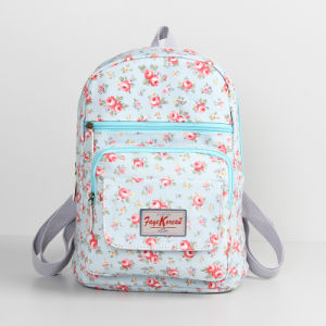 Light Blue Waterproof PVC Canvas Backpack Bag (23206-1)